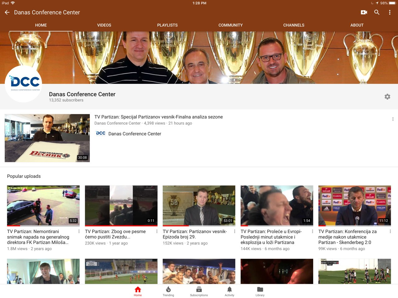 YouTube kanal Danas Conference Center: 14 miliona pregleda!(VIDEO)