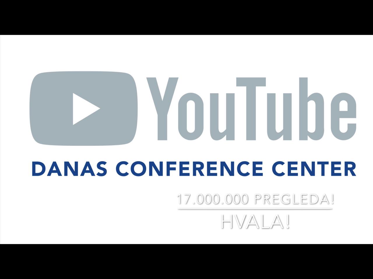 YouTube kanal Danas Conference Center-17 miliona pregleda!(VIDEO)