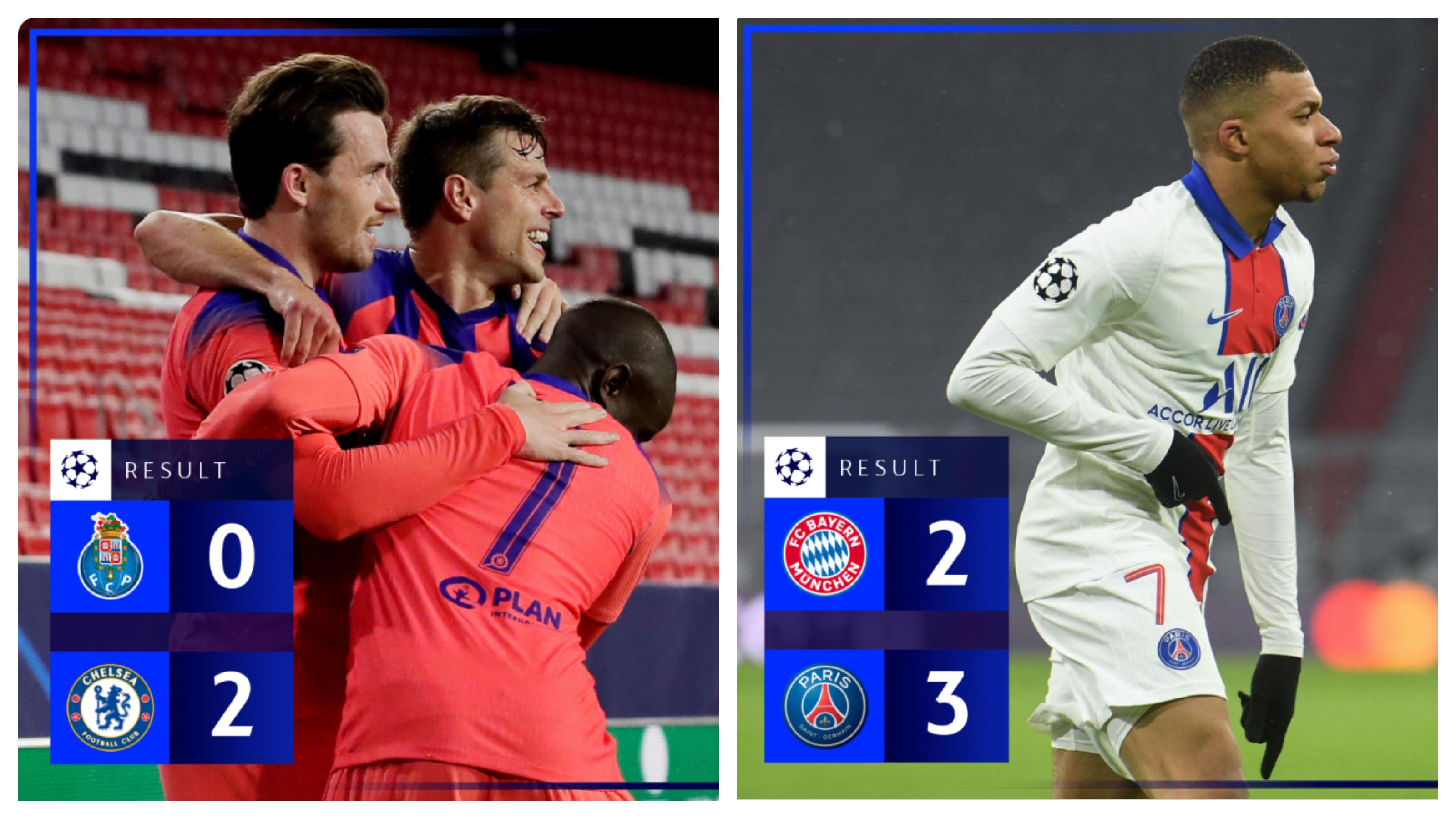 Liga šampiona: Velika pobeda Parižana nad Bajernom i rutina Čelsija protiv Portoa