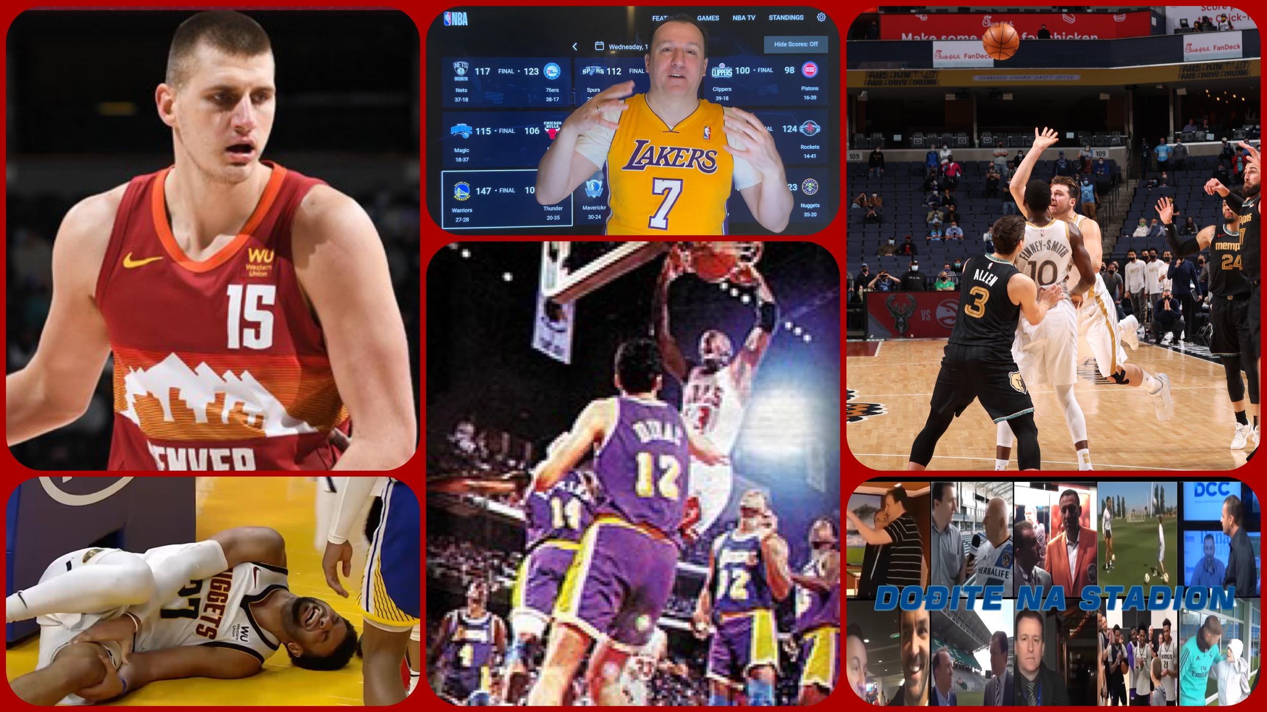 NBA Specijal: Denver pod udarom povreda i nepoznata srpska priča o Lejkersima (VIDEO)