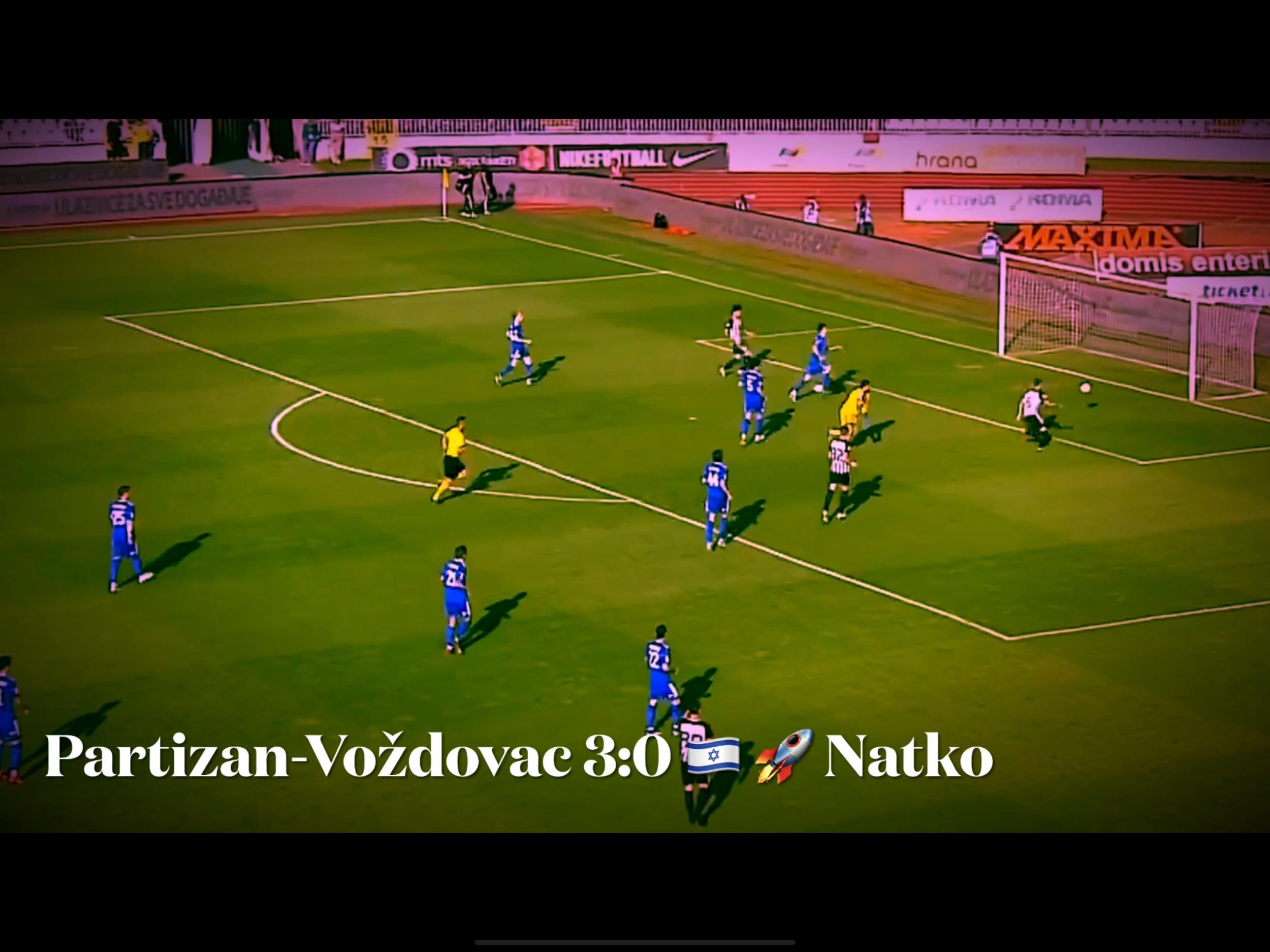 TV Izveštaj: Partizan-Voždovac 3:0. Partizanov Iron Dome sistem, model Bibras Natko…(VIDEO)