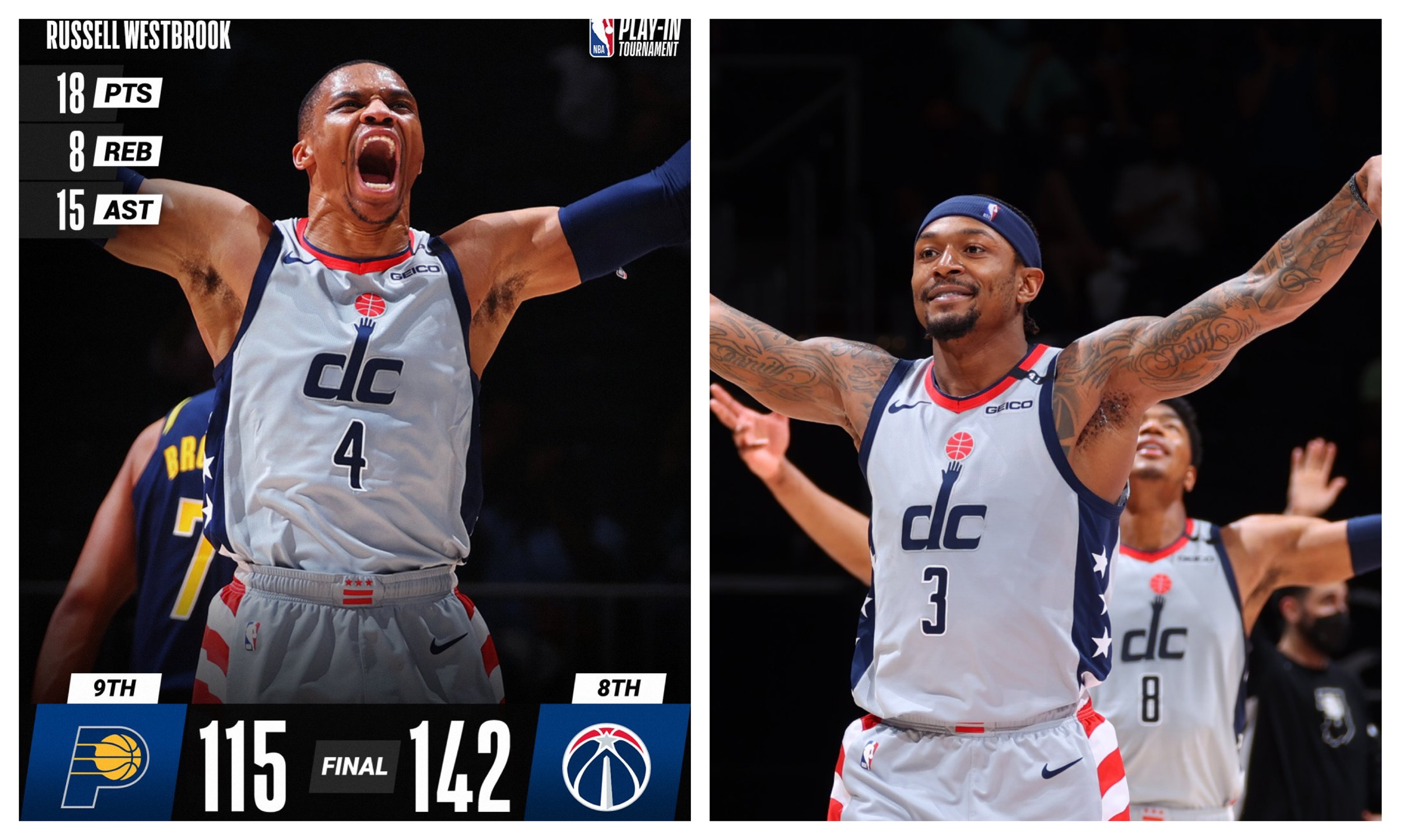 Vašington zgromio Indijanu i kompletirao najveći preokret sezone u NBA (VIDEO)