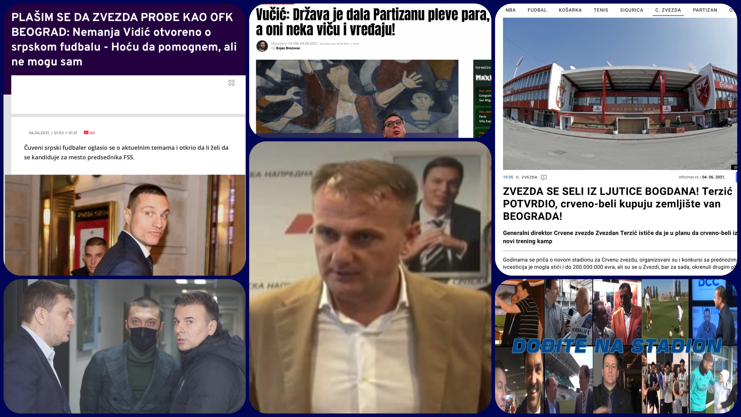Dođite na stadion broj 423. Vučićeva pleva za Partizan i novi šumski stadion Crvene zvezde (VIDEO)
