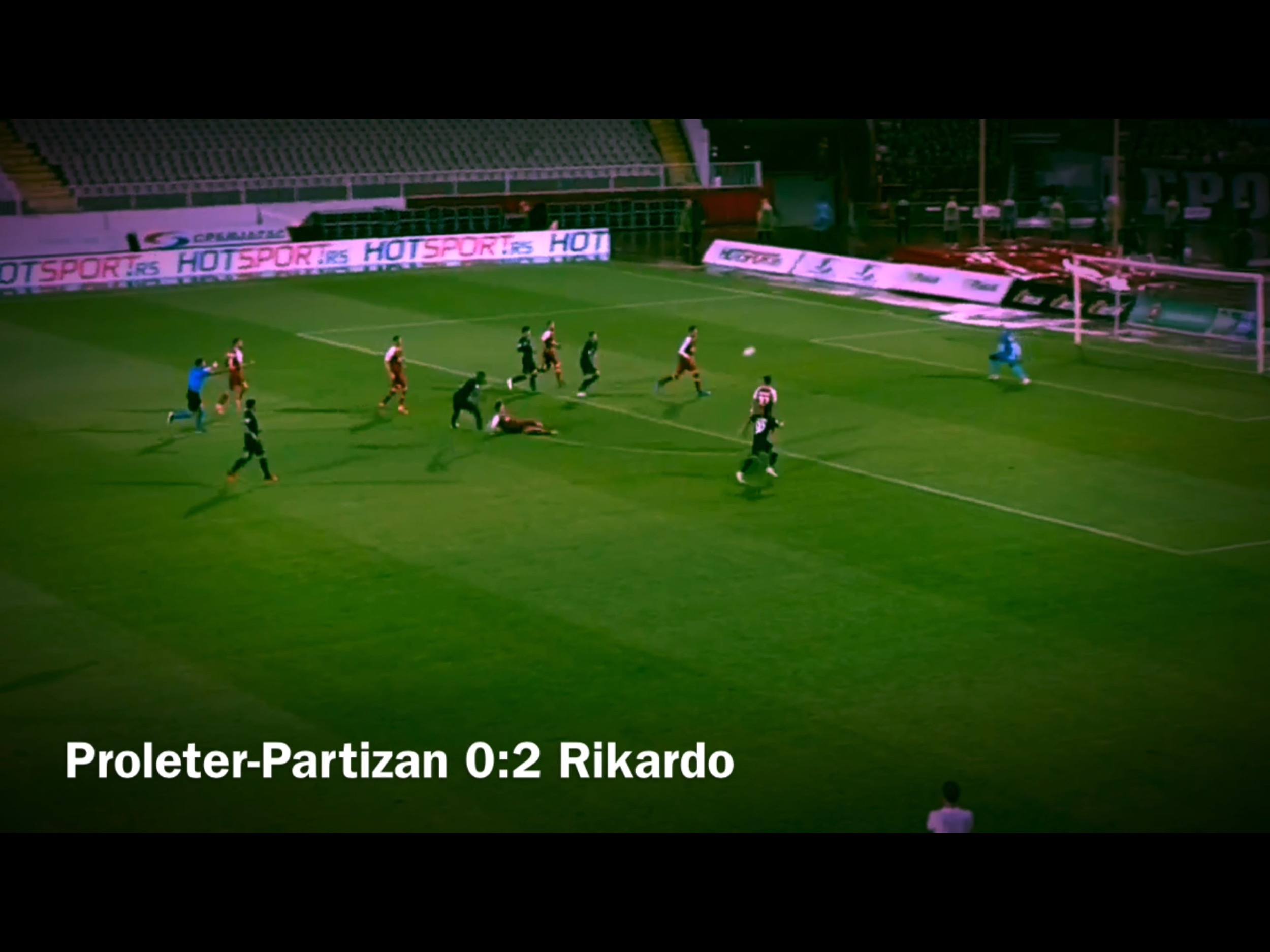 TV Izveštaj: Proleter-Partizan 0:4. Pobeda Partizana za pola sata i Rikardo kao ajkula u akvarijumu sa zlatnim ribicama (VIDEO)