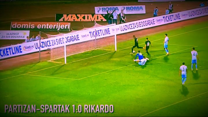 Izveštaj: Partizan-Spartak 5:0. Rikardova šetnja kroz odbranu indisponiranog Spartaka (VIDEO)