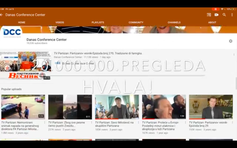 Danas Conference Center na rekordnih 20 miliona pregleda!(VIDEO)